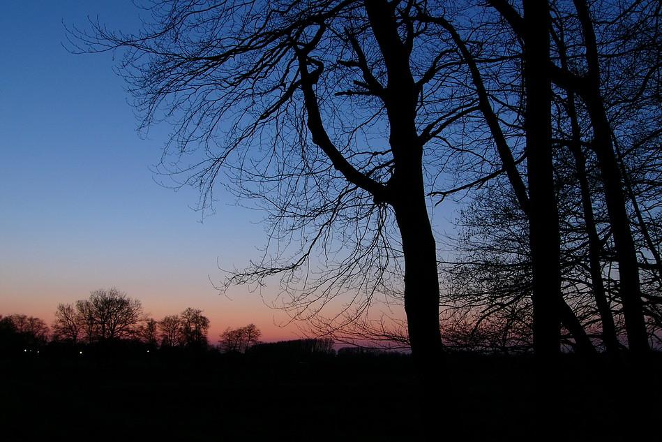 Abends südlich der Elbe