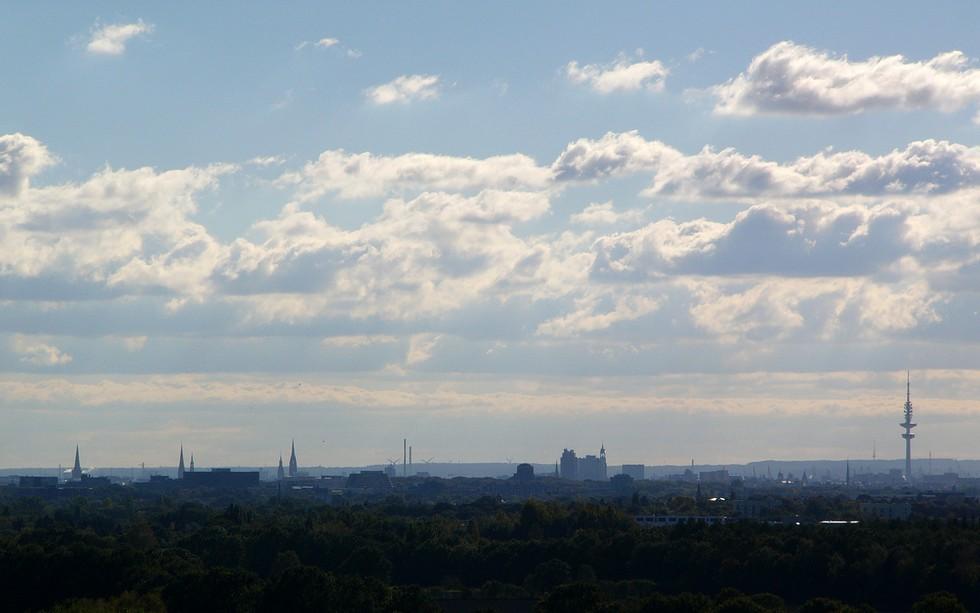Panorama von Hamburg