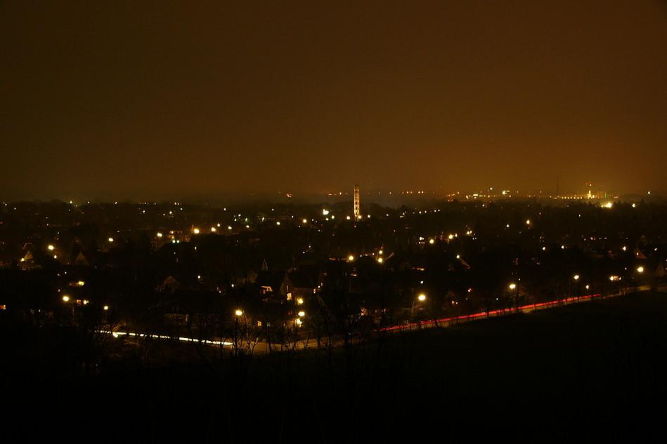 Nachtaufnahme von Poppenbüttel