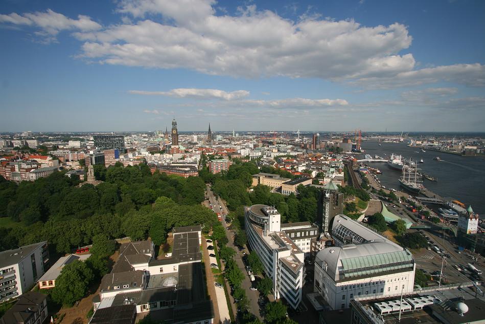 Hamburg-Neustadt und die Landungsbrücken