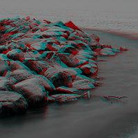 Ausschnitt von: Steine an der zugefrorenen Schlei