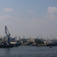 Ausschnitt von: Blick auf den Hamburger Hafen