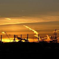 Ausschnitt von: Sonnenuntergang am Hafen