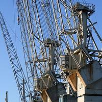 Ausschnitt von: Alte Kräne im Freihafen
