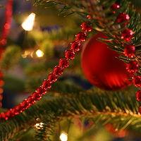 Ausschnitt von: Schmuck am Weihnachtsbaum